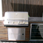 Concrete BBQ benchtop