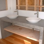 Concrete vanities