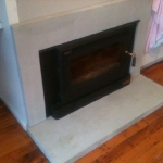 concrete fireplace surround Melbourne